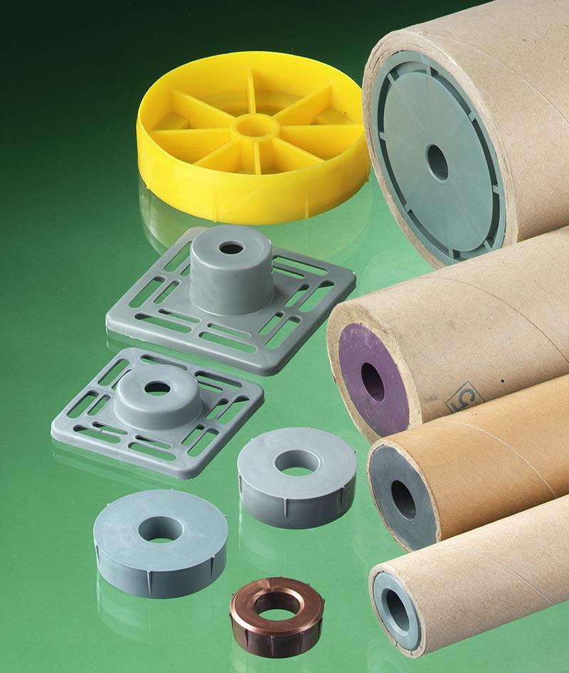 Plastic plugs for secare rolls