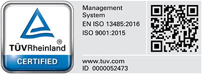 TUEV Rhineland certified